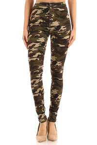 GP2100-1-JC & JQ-Camouflage super stretch skinny jean-RK Collections Boutique