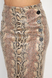 OS21504-1-Fashion USA-Snakeskin A-line Pencil Skirt-RK Collections Boutique