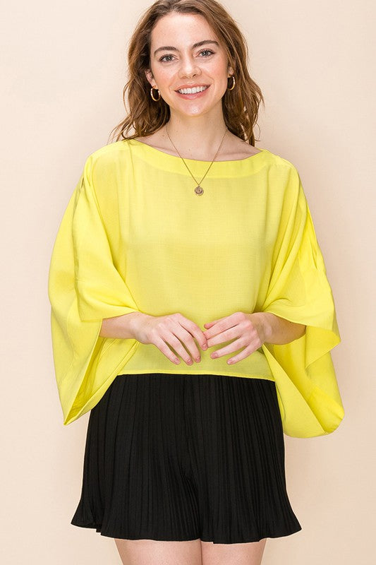 Cold shoulder poncho top