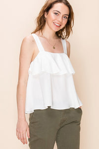 FL19F035-4-Favlux-Ruffle layer tank top-RK Collections Boutique