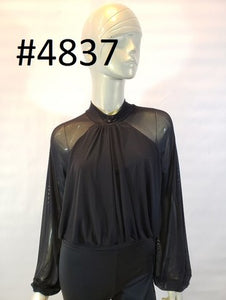 Mesh bubble hem top