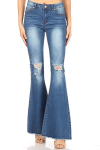 Bell Bottom Jeans with fray hem