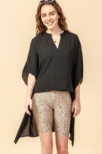 FL20F519-4-Favlux-High low kimono sleeve blouse-RK Collections Boutique