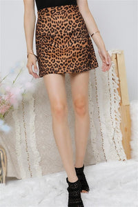 -Adora-Leopard mini skirt-RK Collections Boutique