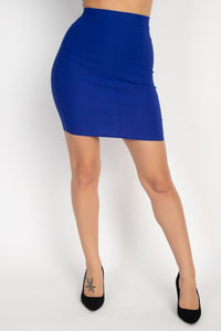 Banded Bodycon Mini Skirt