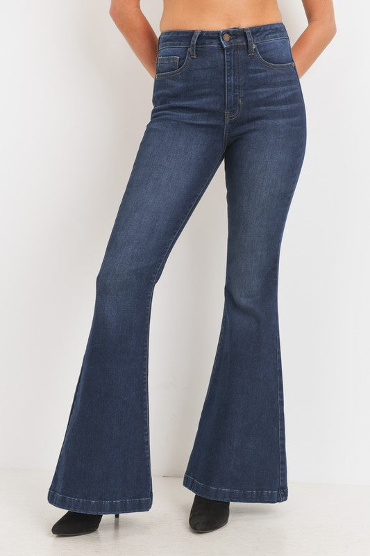 high waist bell bottom jean