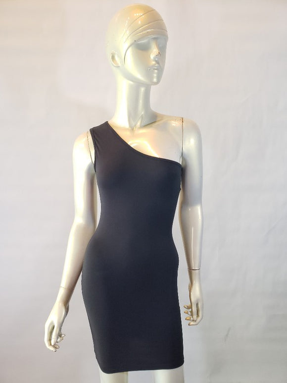 Jersey one shoulder dress