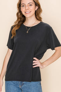 modal short sleeve loose fit tee