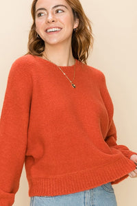 DZ20H174-1-Double Zero-crew neck dolman sweater-RK Collections Boutique