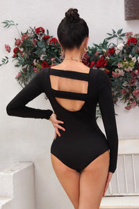 Open back Long Sleeve Bodysuit