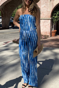-Esley-Tie dye strapless tube top jumpsuit-RK Collections Boutique