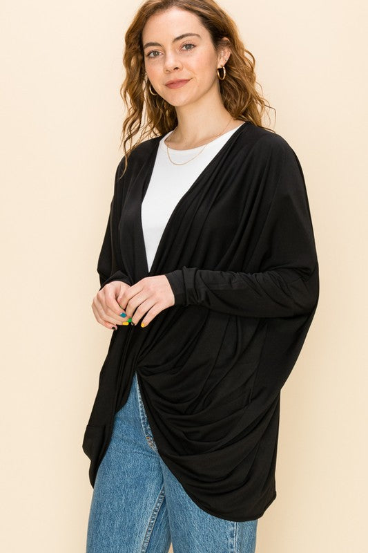 -Favlux-Oversized twist drape top-RK Collections Boutique
