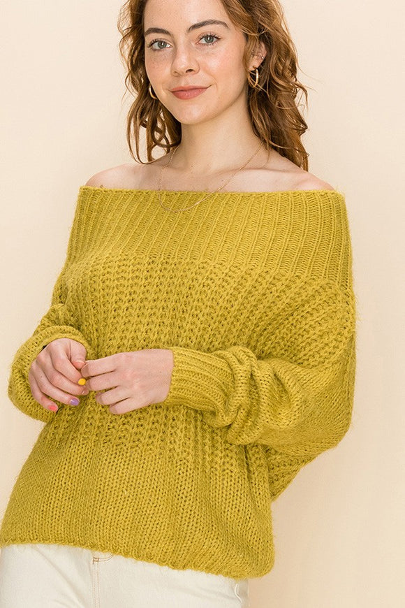 FL20G801-1-HyFve-Off the shoulder fuzzy sweater-RK Collections Boutique