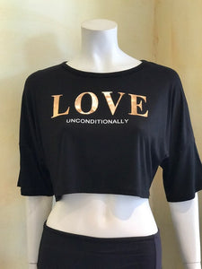 love unconditionally graphic crop top