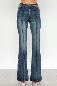 Pintuck bell bottom jeans