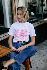 -WKNDER-SLAY crop tee-RK Collections Boutique