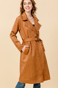 FL21C110-1-Favlux-Suede trench coat-RK Collections Boutique