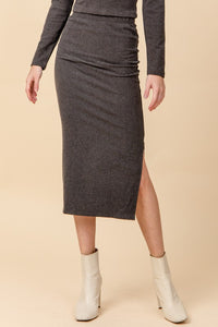 Super soft knit midi skirt
