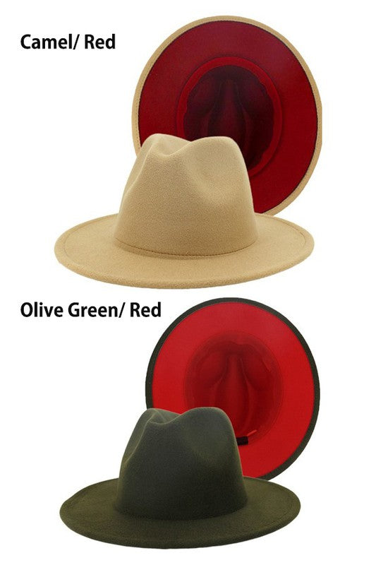 color bottom fedora hat