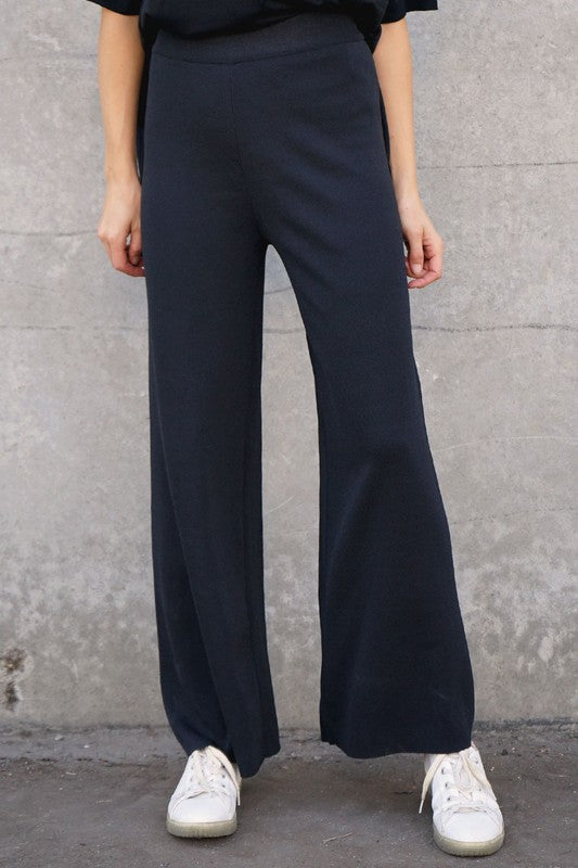 Wide Legged Knit Lounge Pants