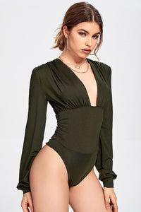 Low-cut V-neck Bodysuit