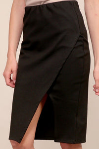 stretch wrap pencil skirt