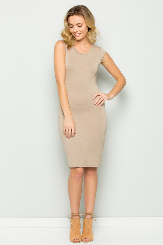 Double layered cap sleeve dress