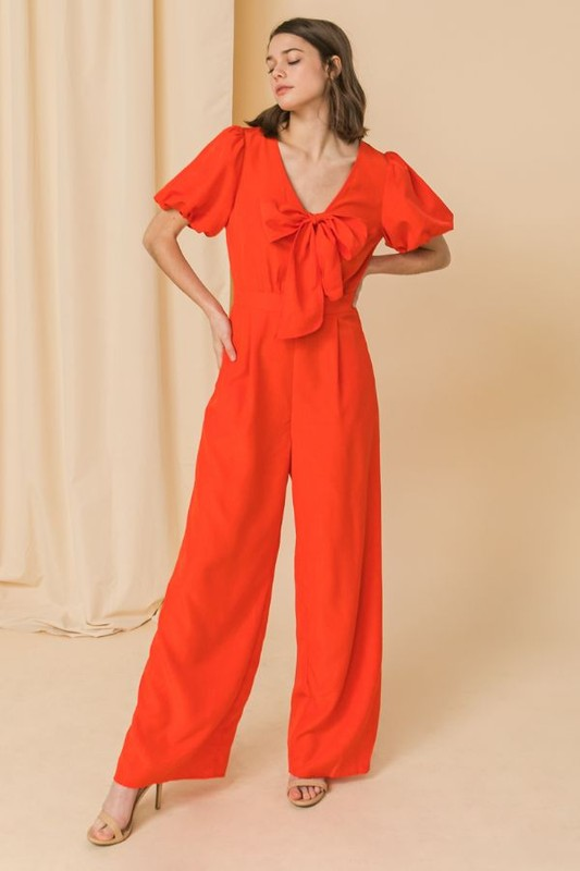 puff short sleeve jumpsuit
