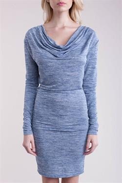 jersey cowl neck long sleeve dress