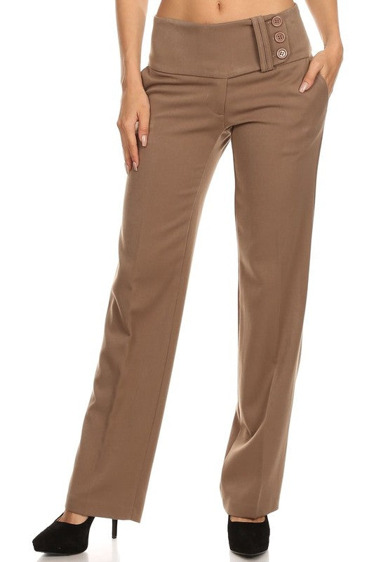 1132-1-Levya's-wide waistband trousers-RK Collections Boutique