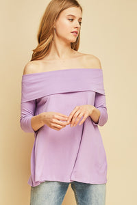 2862-O-S-Entro-fold over off the shoulder a-line top-RK Collections Boutique