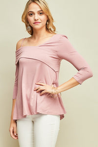 -Entro-bamboo one-shoulder top-RK Collections Boutique