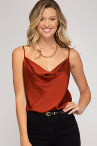 cowl neck sleeveless bodysuit