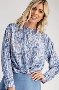 Asymmetrical Front Twist Blouse
