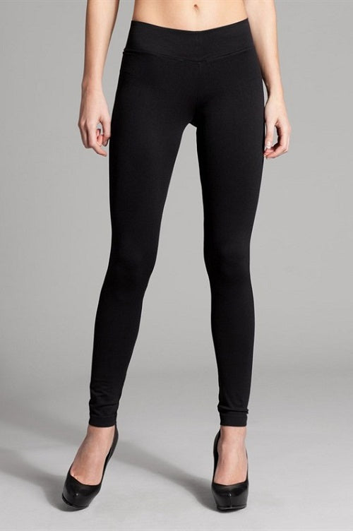 -2NE1-#L-32 Solid Basic Seamless 32-inch Full Leggings-RK Collections Boutique