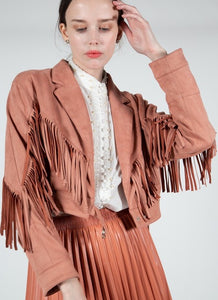 SM4179-1-Beulah Style-Suede Festive Motor Jacket-RK Collections Boutique