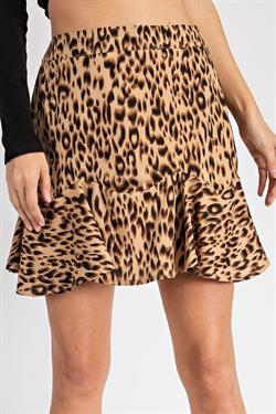 Leopard Swing Skirt
