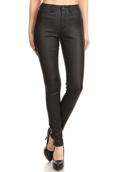 GP4100-1-JC & JQ-High waist faux leather stretch skinny jean-RK Collections Boutique
