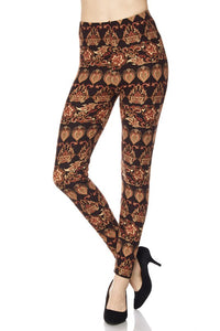 J010-2NE1-Multi Pattern Print Yummy Brushed Ankle Leggings-RK Collections Boutique