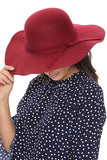 -Cap Zone-Floppy Wide Brim Hat SN-1305-RK Collections Boutique