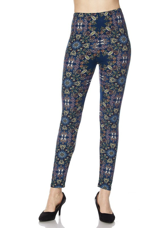 Secret Garden Print Ankle Leggings