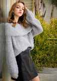 -Mittoshop-fuzzy fold over off the shoulder sweater-RK Collections Boutique