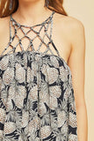 -Entro-Pineapple print sun-dress-RK Collections Boutique