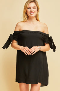 D7689-R-S-Entro-off the shoulder dress-RK Collections Boutique