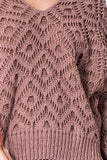 -Favlux-crochet chenille v-neck sweater-RK Collections Boutique