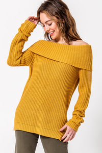FL19H377-M-S-Favlux-Off the shoulder sweater-RK Collections Boutique