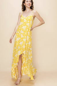 FL20G474-L-S-Favlux-Floral maxi dress with ruffle hem-RK Collections Boutique