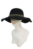 SN-561-1-Cap Zone-Floppy Hat Gold Chained Band-RK Collections Boutique