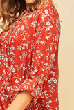 -Entro-Floral print surplice woven top-RK Collections Boutique