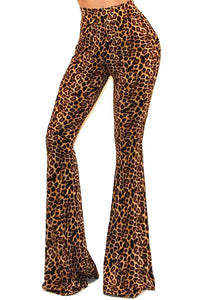 ANIMAL PRINT BELL BOTTOM PANTS - by Got Style - available at rkcollections.myshopify.com -  - Pants